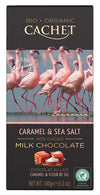 Cachet Organic Milk chocolate caramel sea salt 100g (40%)