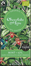 CHOCOLATE AND LOVE DARK CHOCOLATE WITH PEPPERMINT CRUNCH (67%)