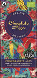 CHOCOLATE AND LOVE RICH DARK CHOCOLATE WITH POMEGRANATE (70%)