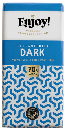 Enjoy! Delightfully Dark 70% Chocolate Bar 70g