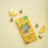 SEED & BEAN - LEMON & CARDAMOM FINE DARK CHOCOLATE 85G BAR