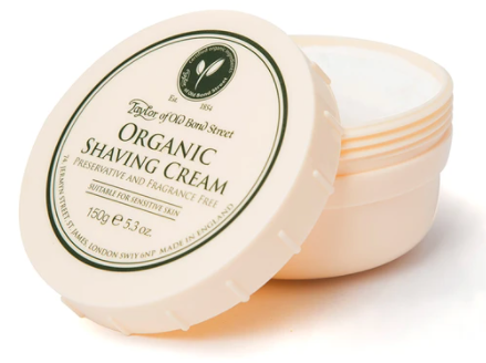 Taylor of Old Bond Street Organic Shaving Cream Bowl 150g