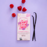 SEED & BEAN - RASPBERRY & VANILLA CREAMY WHITE CHOCOLATE 85G BAR