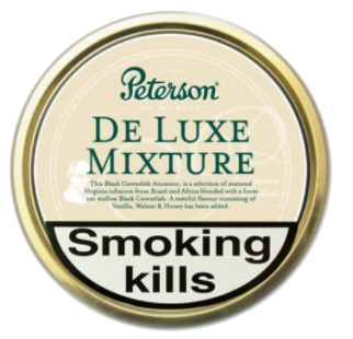 Peterson De Luxe Mixture Pipe Tobacco 50g Tin