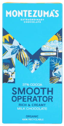 MONTEZUMA'S SMOOTH OPERATOR MILK CHOCOLATE 37% COCOA 90G