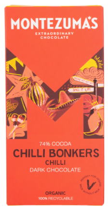 MONTEZUMA'S CHILLI BONKERS - 74% DARK CHOCOLATE WITH CHILLI 90G