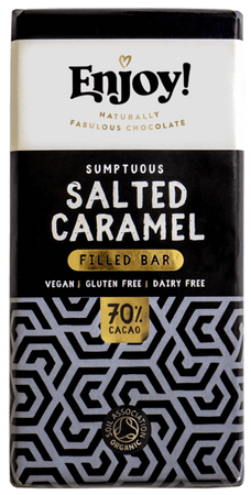 Enjoy! Sumptuous Salted Caramel 70% Chocolate Bar 70g