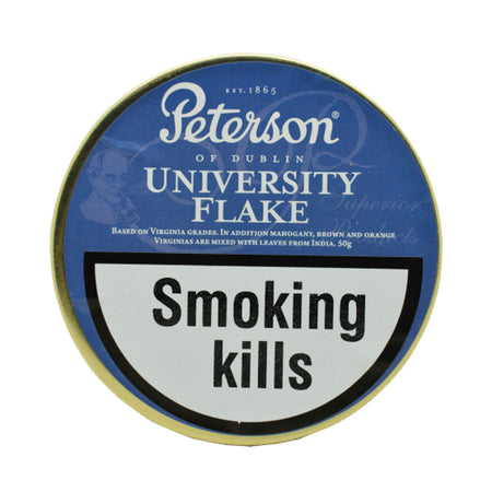 Peterson University Flake Pipe Tobacco 50g Tin