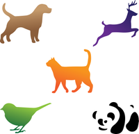 Animal Cartoon Stencils