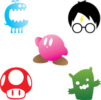 Cartoon Character Stencils