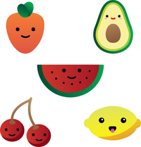 Fruits & Vegetables Stencils