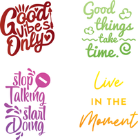 Inspirational Quotes Stencils