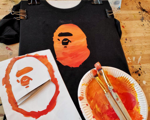 bape stencil painting tools