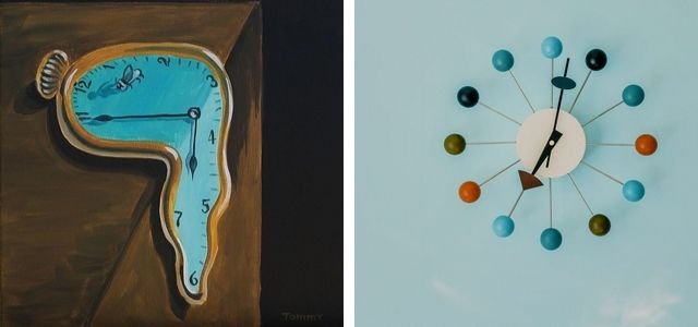 daily everyday objects art jamming ideas clock