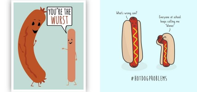 daily everyday objects art jamming ideas hotdog wurst sausage