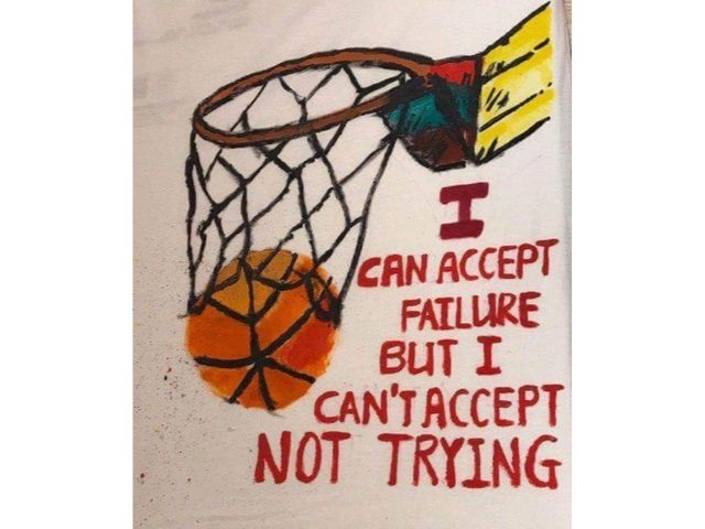 inspirational quotes art jamming ideas I can accept failure but I can't accept not trying