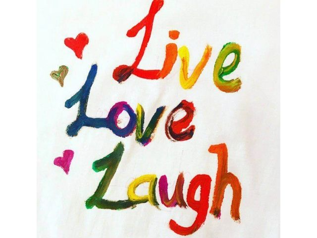 inspirational quotes art jamming ideas Live Laugh Love