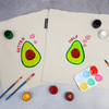 Better Half Avocado Couple Tote Bag Painting Kit