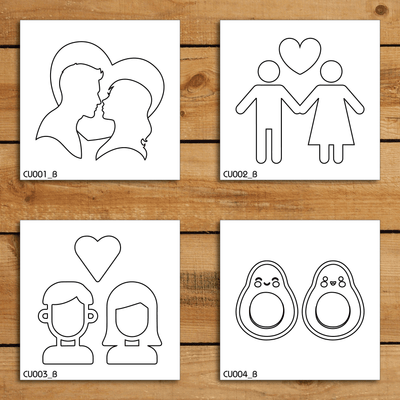 Couple Stencil Set