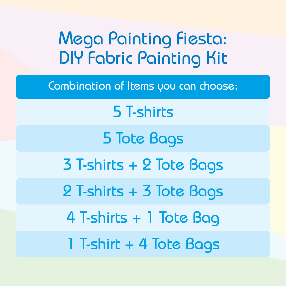 Mega Painting Fiesta - DIY Fabric Painting Gift Set