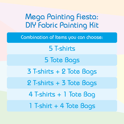 Mega Painting Fiesta - DIY Fabric Painting Kit