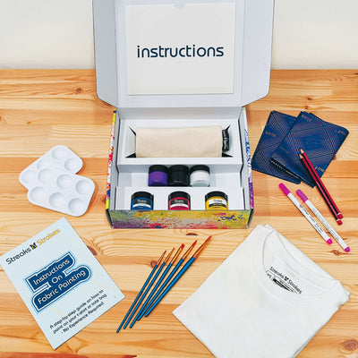 Paint In Pairs - DIY Fabric Painting Gift Set
