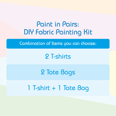 Paint In Pairs Family - DIY Fabric Painting Gift Set