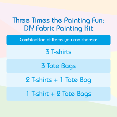3 Times The Painting Fun - DIY Fabric Painting Kit