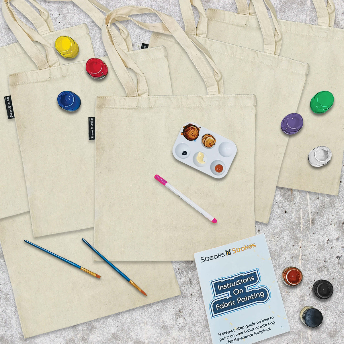 Freehand Tote Bag Party Pack