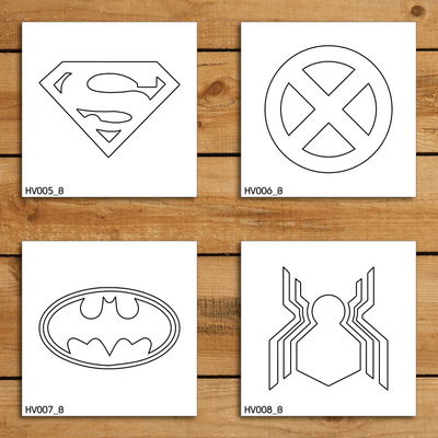 Heroes & Villains Stencil Set