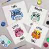 Owl Family of 4 T-Shirt Painting Kit