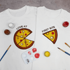Pizza for 2 Couple T-Shirt Painting Kit