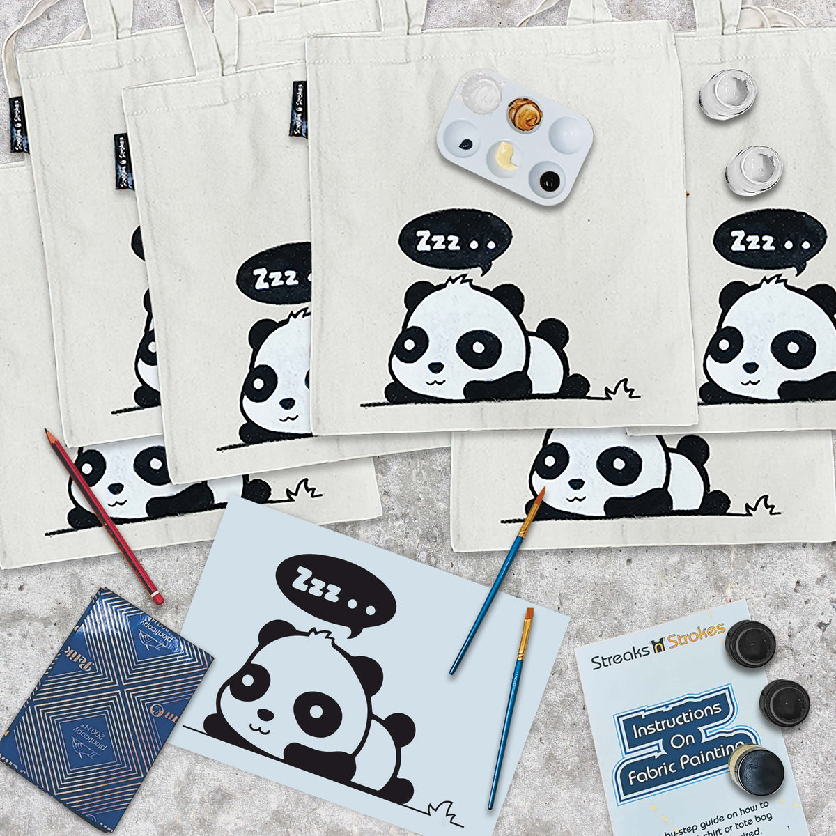 Plushy Panda Tote Bag Party Pack