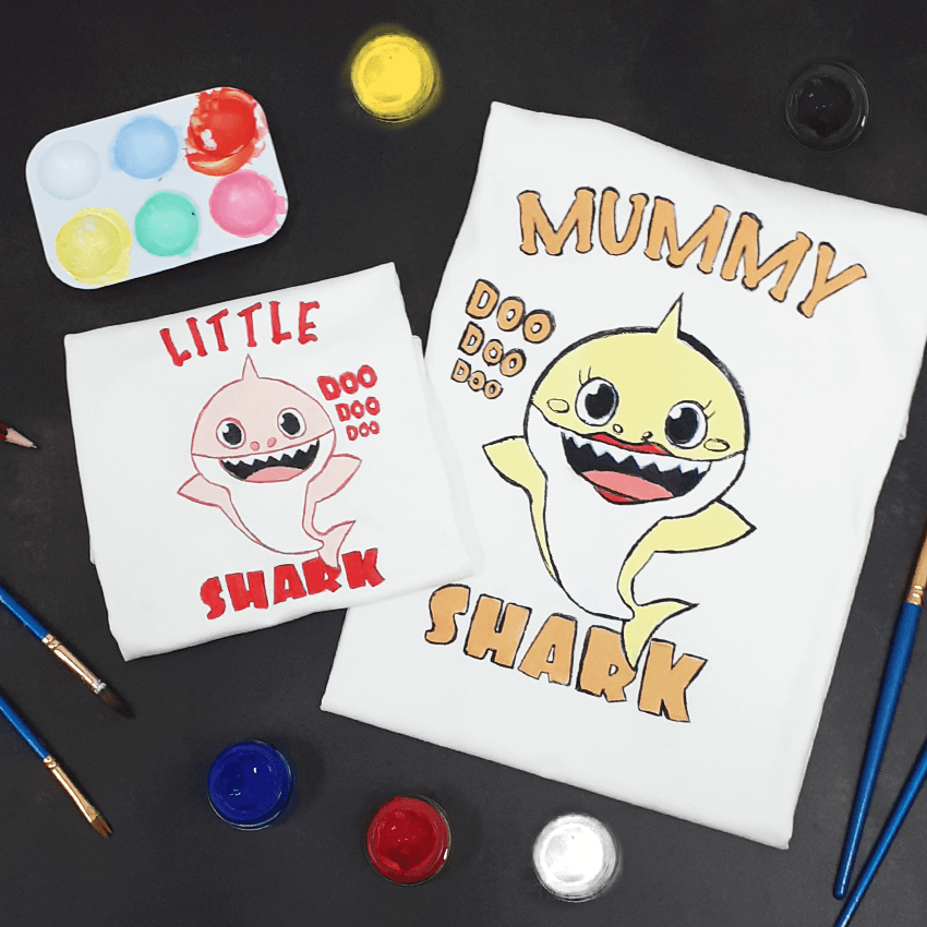 Shark Family of 2 T-Shirt Painting Kit