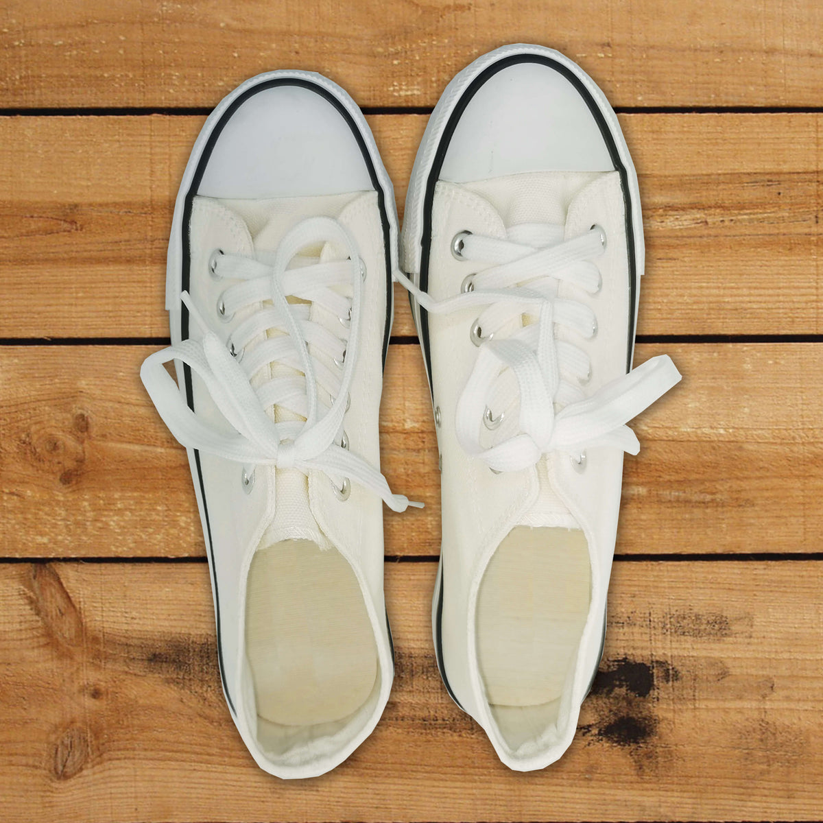 Plain Basic Cotton Canvas Sneakers