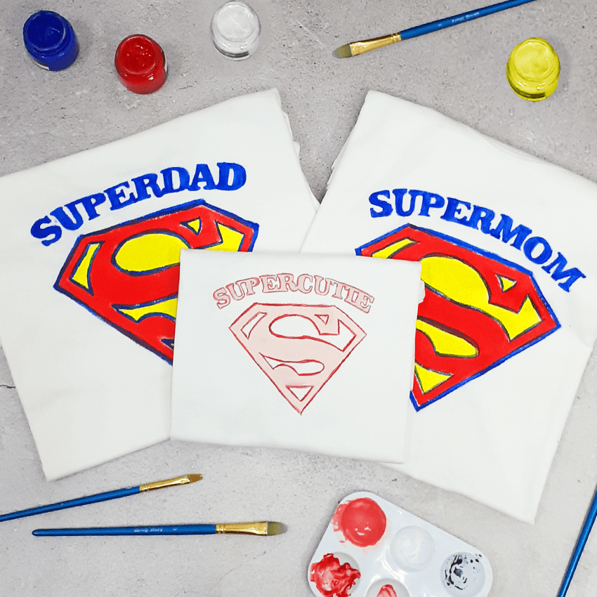 Superfamily of 3 T-Shirt Painting Kit