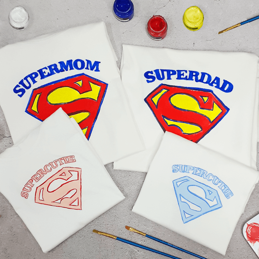 Superfamily of 4 T-Shirt Painting Kit