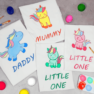 Unicorn Family of 4 T-Shirt Painting Kit