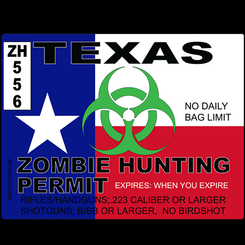 Texas Zombie Hunting Permit