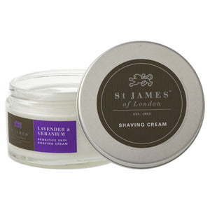 St James of London Unscented, Lavender & Geranium Shaving Cream