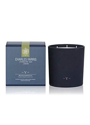 Charles Farris British Expedition 3 Wick Candle
