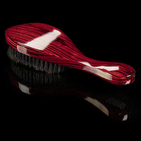 Torino Pro Wave Brush #570 By Brush King - Medium Hard Curve 360 Waves Brush - Made with Reinforced Boar & Nylon Bristles (360 Waves Brushes)