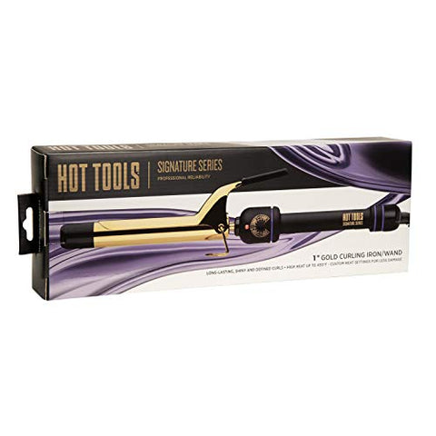 HOT TOOLS Signature Series Gold Curling Iron/Wand, 1 Inch