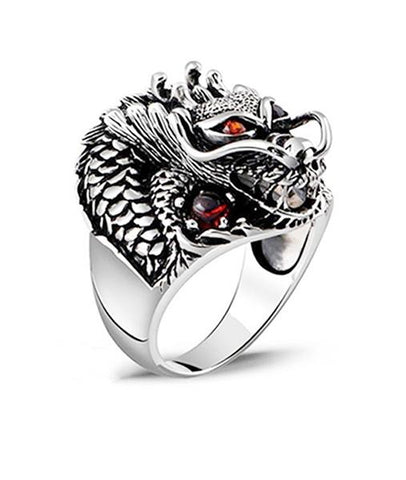 Bague Dragon Zircon Rouge | Legend Dragon