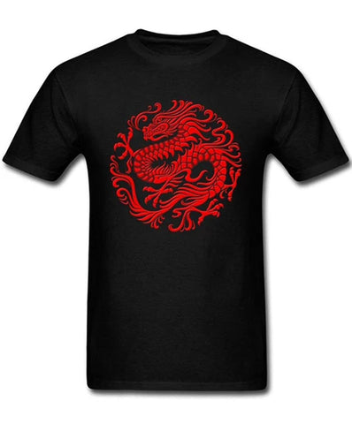 T-Shirt Dragon Rouge Yakusa