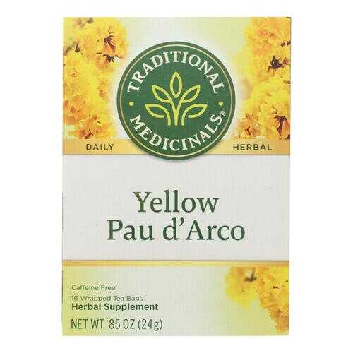 Traditional Medicinals Pau d'Arco Herbal Tea - 16 Tea Bags - Case of 6