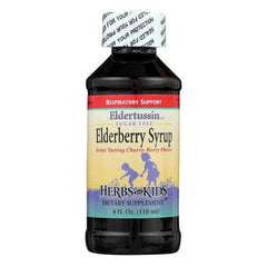 Herbs for Kids Eldertussin Elderberry Syrup - 4 oz
