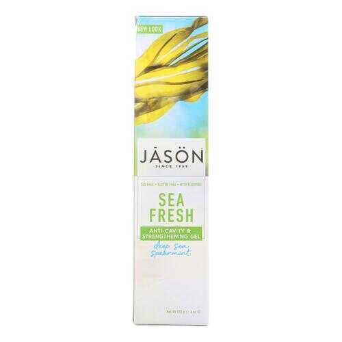 Jason Sea Fresh All Natural Sea Algae CoQ10 Tooth Gel Deep Sea Spearmint - 6 oz