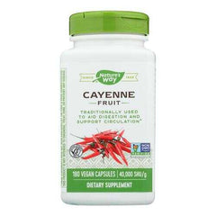 Nature's Way - Cayenne 40000 HU - 450 mg - 180 Capsules