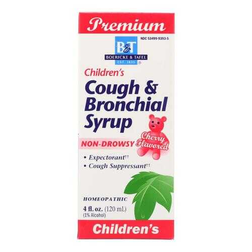 Boericke and Tafel - Children's Cough and Bronchial Syrup - 4 fl oz
